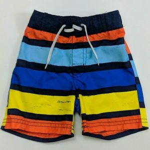 Gymboree Baby Boy Striped Drawstring Swim Trunks